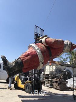 Vintage Giant Roadside Waiving Santa Claus Fiberglass RARE 17' Tall c1964