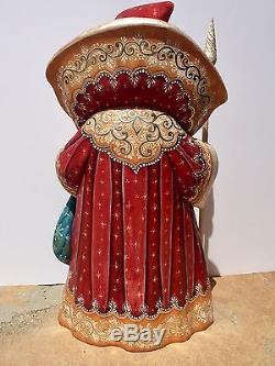 Vintage Hand Painted Large Russian Santa Claus-redgoldsigned