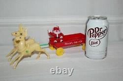 Vintage Hard Plastic Rosbro Rosen Santa Claus Hayride Wagon Christmas 1950s Rare