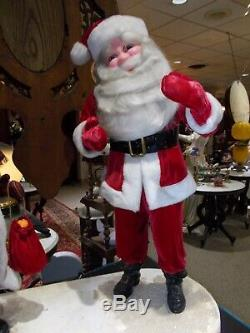 Vintage Harold Gale 40 Mechanical Store Display Mr/Ms Santa Claus