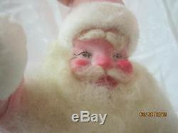 Vintage Harold Gale Mary Kay Christmas pink Velvet Suit Santa Claus 15 #4