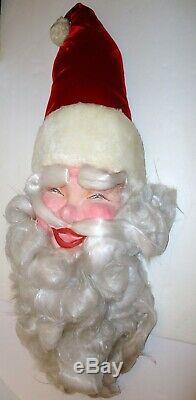 Vintage Harold Gale Mechanical Display Santa Claus Head 36 Long