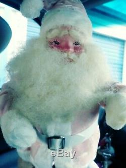 Vintage Harold Gale PINK SANTA Claus 15 Jolly Fellow
