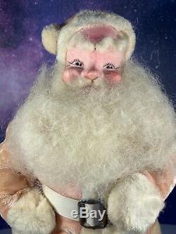 Vintage Harold Gale PINK Santa Claus Christmas Doll Figure