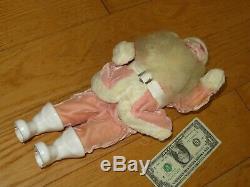 Vintage Harold Gale PINK Santa Claus Christmas Doll Figure (R942)