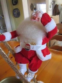 Vintage Harold Gale Pepsi Santa Claus Figure/store Display Santa On Ladder
