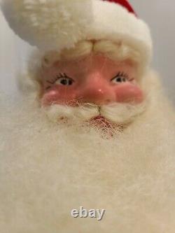 Vintage Harold Gale Santa Claus Christmas Figure Red Velvet Suit 14 Tall 1960's