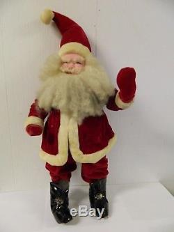 Vintage Harold Gale Santa Claus Red Velvet Suit 25 Tall Store Display
