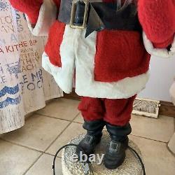 Vintage Harold Gale Store Display Automated Santa Claus. Works! 42