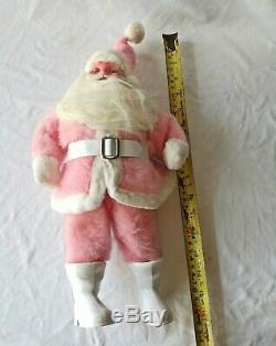 Vintage Harold Gale pink Santa Claus
