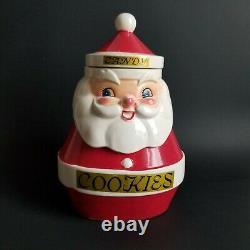 Vintage Holt Howard Santa Claus Cookie Candy Jar Mid Century MCM