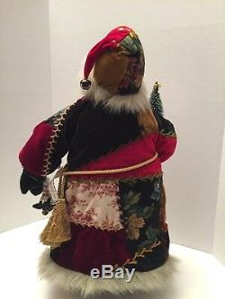 Vintage House of Hatten Victorian Quilt Santa Claus St. Nick Old World Christmas