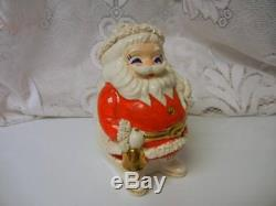 Vintage Japan SANTA CLAUS CHRISTMAS Ceramic BANK SPAGHETTI TRIM 1950s Rare