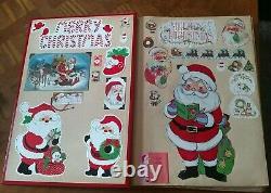 Vintage Large Christmas Santa Claus Scrapbook 193 Pcs