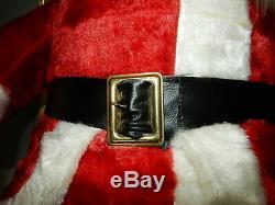 Vintage Large Stuffed Santa Claus 55 Store Display Christmas MCM
