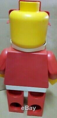 Vintage Lego Jumbo Shop Display Santa Claus 19 No Hat. Figure. Freeship