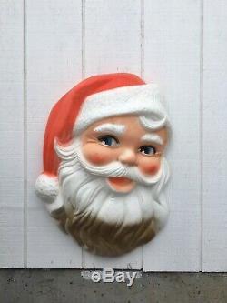 Vintage MID Century Styrofoam Santa Claus Face Shabby Chic Christmas Decor