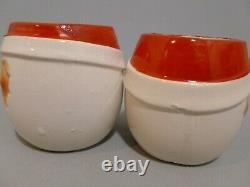 Vintage Mid Century Modern Holt Howard Cloud Santa Eggnog Pitcher & 6 Santa Mugs