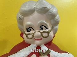 Vintage Mr and Mrs Santa Claus Atlantic Mold Ceramic Figures Large 14