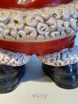Vintage Mr and Mrs Santa Claus Atlantic Mold Ceramic Figures Large 14 FREE SHIP