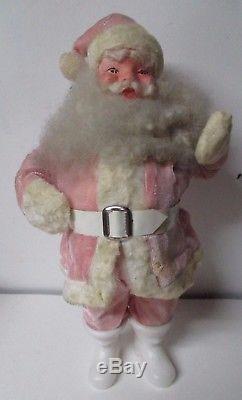 Vintage PINK VELVET Harold Gale Christmas Santa Claus