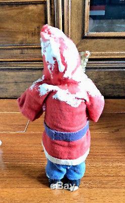 Vintage Paper Mache Christmas Santa Claus Occupied Japan Standing Figure 7 (A)