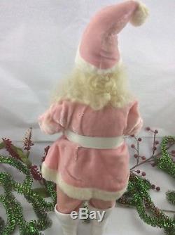 Vintage Pink Harold Gale Santa Claus