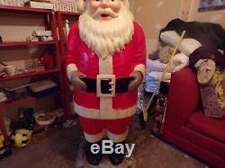 Vintage Polk Bros Life-Size blow mold Santa Claus 1963 ll gooodman 5 1/2