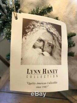 Vintage RARE Lynn Haney Handcrafted Santa Claus #1040 Winter Wonderland EUC