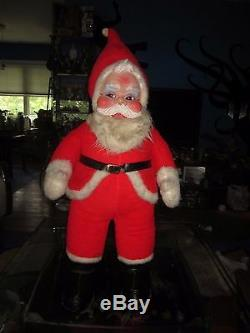 Vintage RUSHTON SANTA CLAUS Rubber Face Doll 40 Figure Mid Century Modern toy