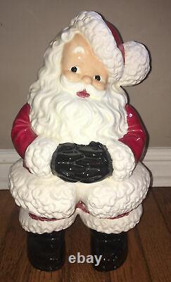 Vintage Retro Atlantic Mold Ceramic Santa Claus Figure 14 Tall RARE