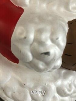 Vintage Retro Atlantic Mold Ceramic Winking Santa Claus Figure 19 Large