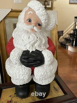 Vintage Retro Ceramic Santa Claus Figure Large 22 x 12