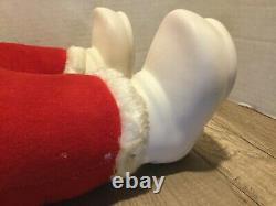Vintage Rushton Co. Santa Claus Doll Plush with Rubber Face
