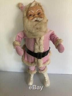 Vintage Rushton Pink Santa Claus