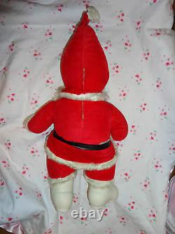 Vintage Rushton SANTA CLAUSE 16 Rubber Face & Boots Christmas Stuffed Lovely