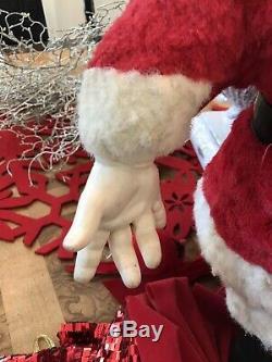 Vintage SANTA CLAUS Rubber Face Doll 21 Christmas Figure