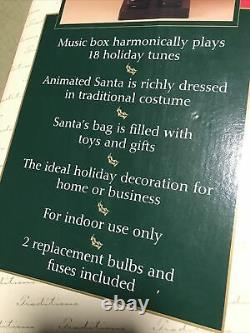 Vintage SANTA CLAUSE Traditions Deluxe Animated Light 30 Moves Movement