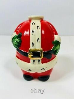 Vintage Santa Claus Brandy Set 1893 Detachable Head 6 Mugs Holidays Christmas