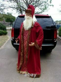 Vintage Santa Claus Department Store Christmas Display AMAZING 6'3 Tall