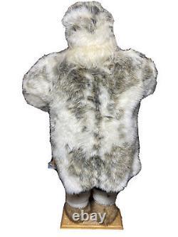 Vintage Santa Claus Native Alaskan Christmas Santa Faux Fur Figure 34