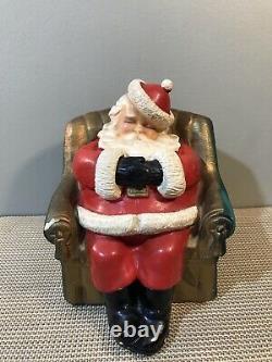 Vintage Somerset Savings Bank Sleeping Santa Claus Chalk Ware Bank Somerville, MA