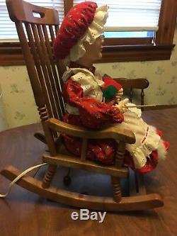 Vintage Telco Motion-ettes Rocking Mrs Santa Claus Animated Figure