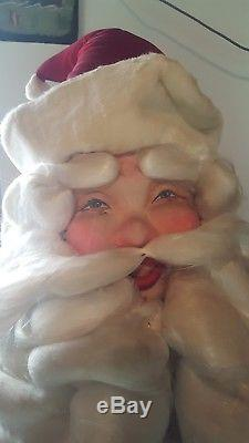 Vintage life size animated store front Santa Claus