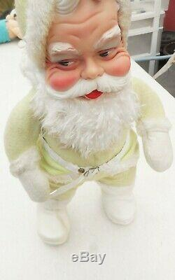 Vintage rare Rushton Co. 1950's doll Santa Claus suit green 18'