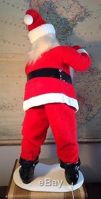 Vtg 42 Harold Gale Santa Claus Mechanical Automated Store Display Xmas Howard
