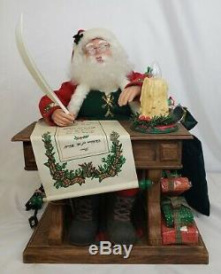 Vtg Christmas Animated Lighted Candle Chubby Santa Claus Figure Moves Electric
