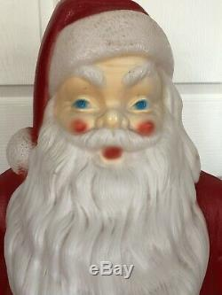 Vtg Empire 47 Motion Activated Musical Santa Claus Christmas Blow Mold with light