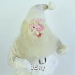 Vtg Harold Gale Santa Claus Christmas Figure 1950's Rare White Velvet Suit 14