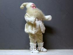 Vtg Harold Gale WHITE VELVET SUIT 14 Santa Claus Christmas Doll Figure Decor